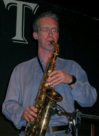 Jazz Sax Player Marc McDonald at the L'Inedit Club, Montpellier, France